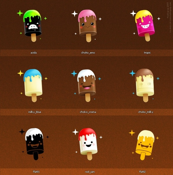 128x128 Icons Set 5 icons pack