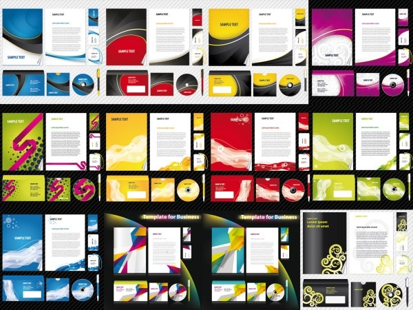 12 sets of basic vi template vector business