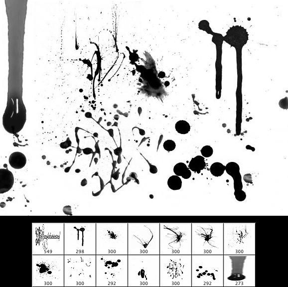 13 blood and splatter brushes