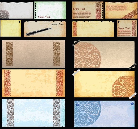 14 fine texture of the paper vector