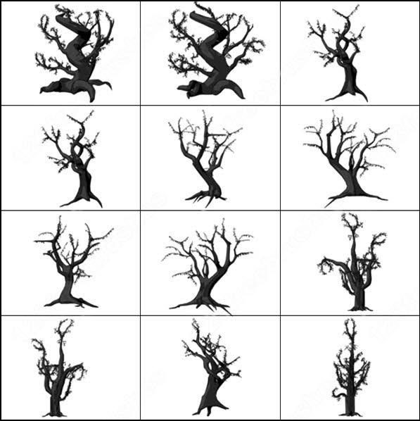 15 spooky tree brush