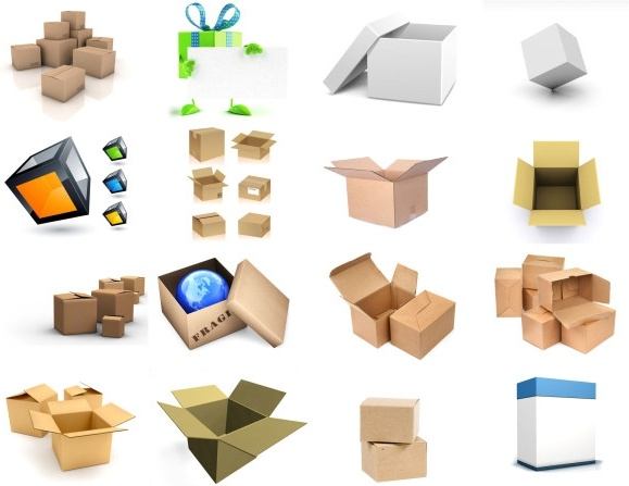 16 3d blank box cartons hd picture