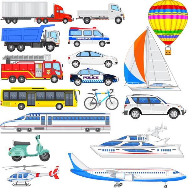17 vehicle design vector