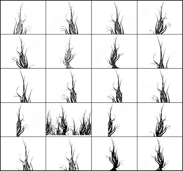 18 swirl tree brush