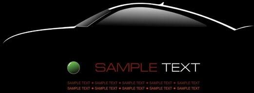 1 car silhouette vector