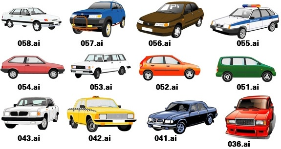 1 exquisite variety of cars vector