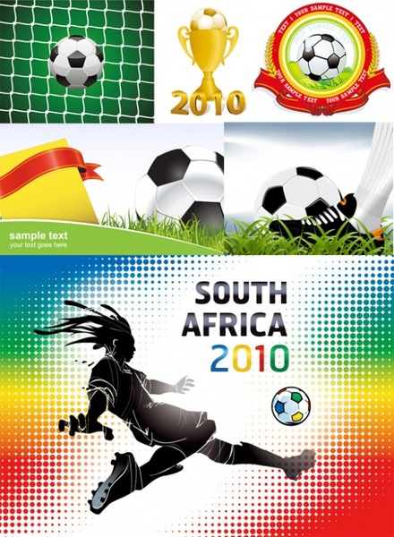 2010 south africa world cup album vector