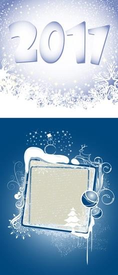 2011 new year banner bright snowfall decor