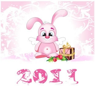 2011 easter banner cute bunny icon pink decor