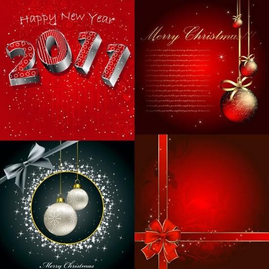 new year xmas card templates elegant twinkling decor