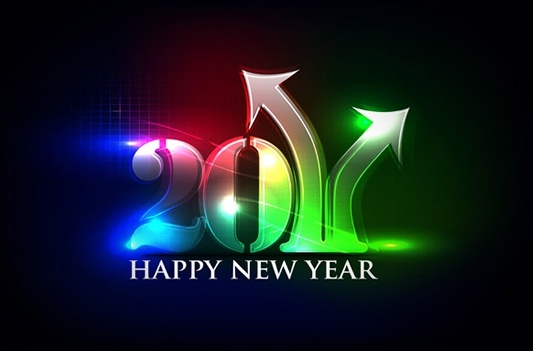 2011 new year banner sparkling lights numbers decor