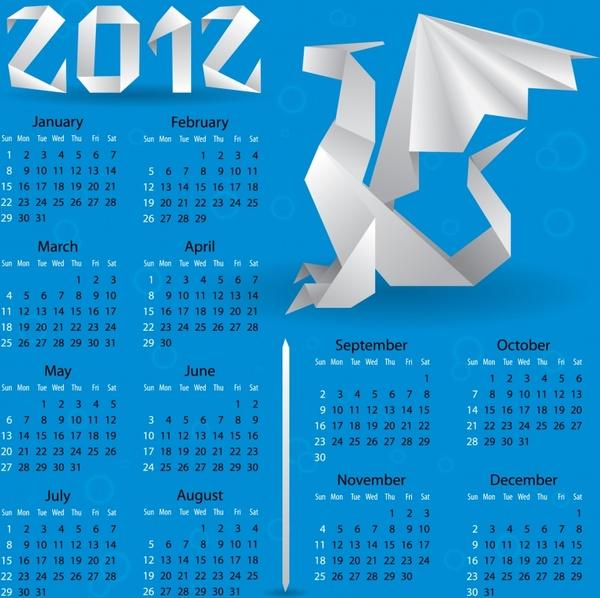 2012 vector calendar calendar calendar