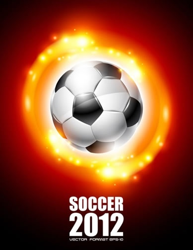 2012 world cup soccer poster vector