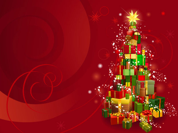 Colorful Christmas Background Design.2013 Christmas Background With Gift Box Design Vector Free