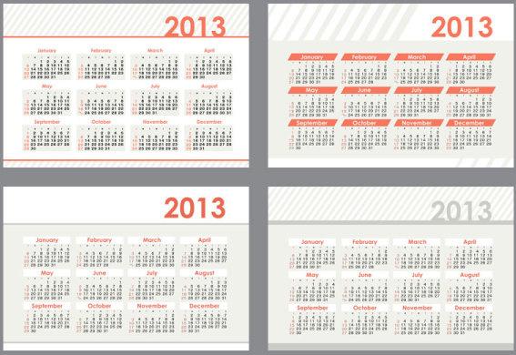 2013 creative calendar collection design vector free vector in.