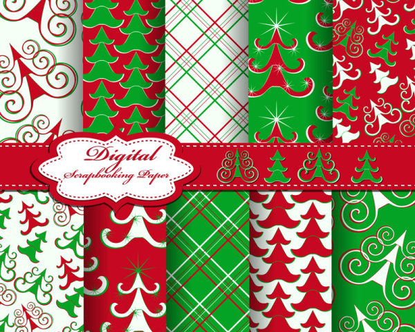 2013 merry christmas pattern elements vector set