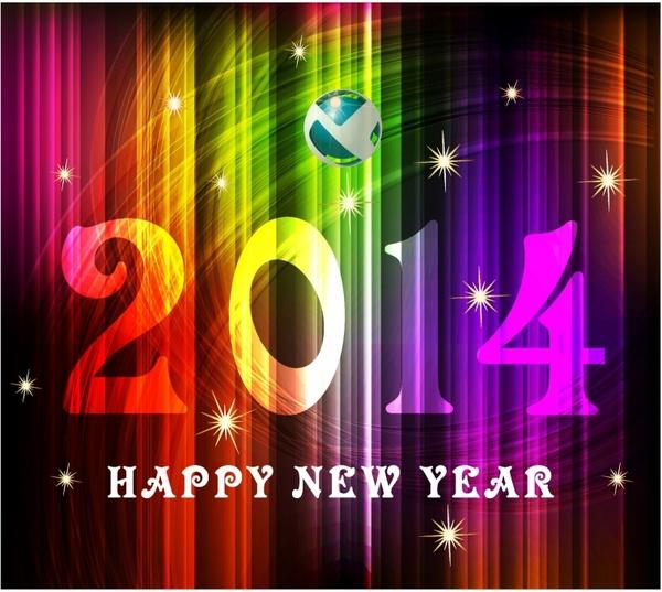 2014 Beautiful New Year Celebration Background