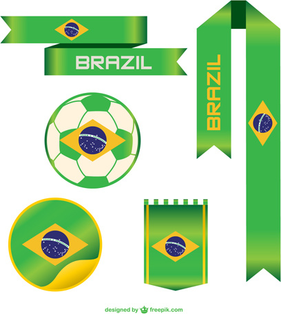 2014 brazil world cup vector object