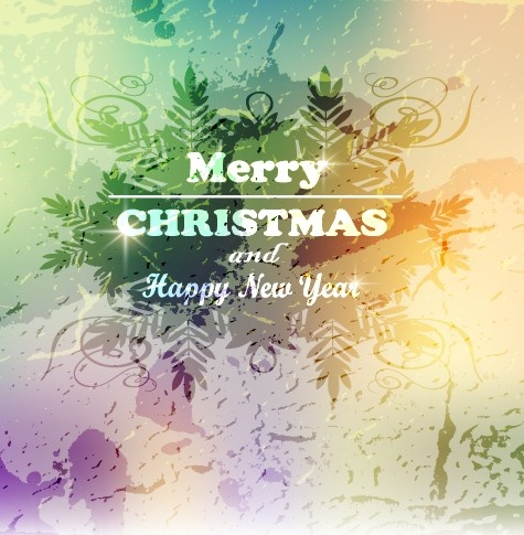 2014 christmas and new year grunge vector backgrounds