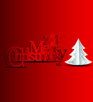 2014 christmas new year red style background vector