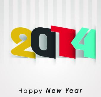 2014 happy new year deisgn vector