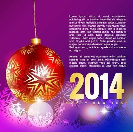 2014 happy new year holiday vector background