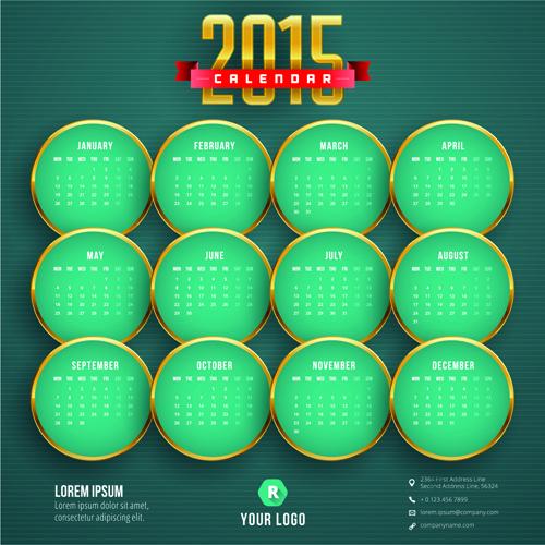 2015 business calendar creative design vector