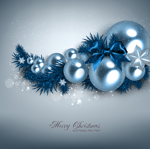 2015 christmas and new year ornate pearl background