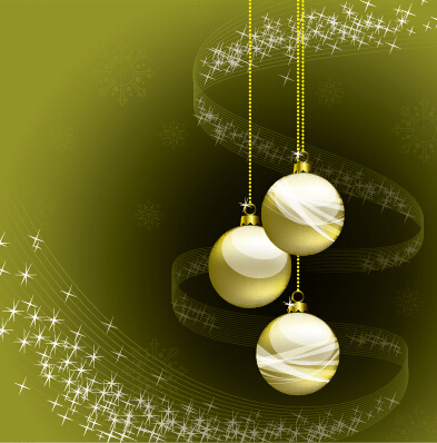 2015 christmas ball with abstract background