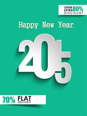 2015 christmas discount big sale poster vectors