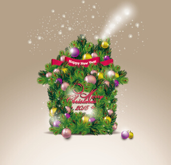 2015 christmas with new year banner vector background
