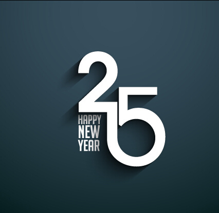2015 happy new year dark background vector