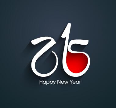 2015 happy new year dark background vector