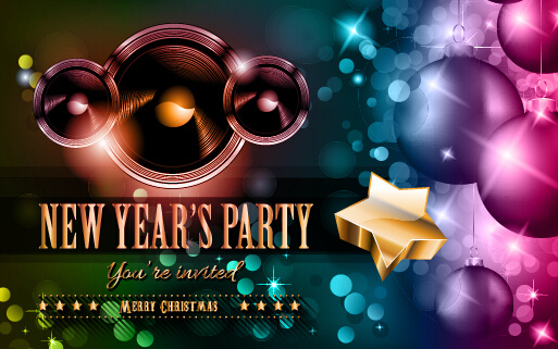 2015 new year party flyer and cover vector