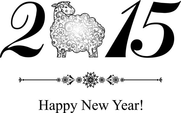 2015 sheep year background creative vector