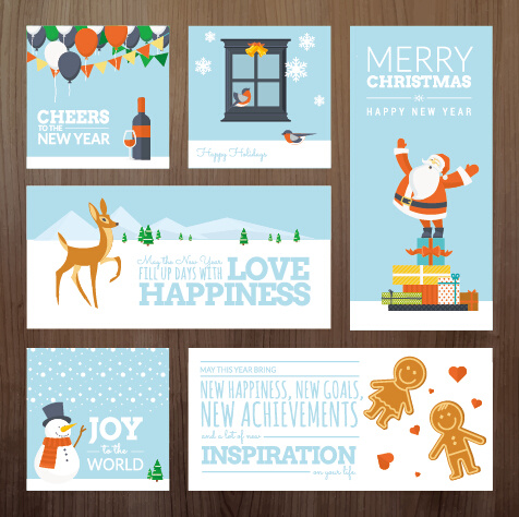 2015 xmas and new year greeting cards kit vector free vector in 2015 xmas and new year greeting cards kit vector m4hsunfo