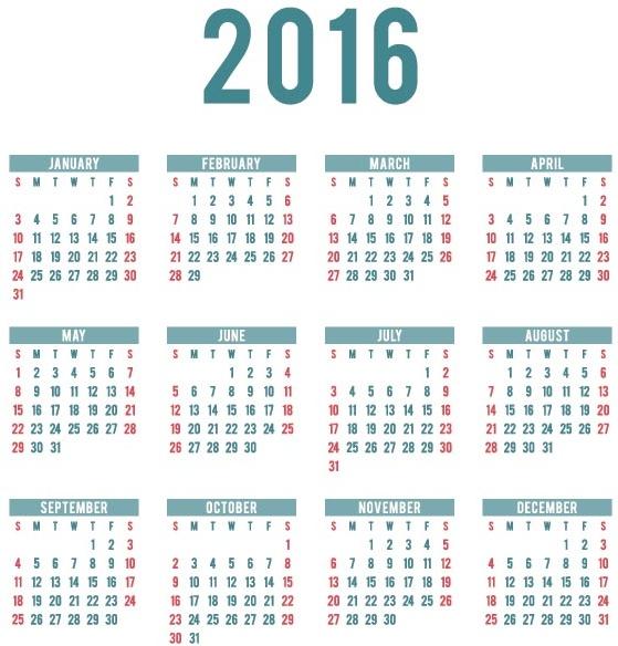 カレンダー カレンダー デザイン フリー : Calendario 2016 Calendar
