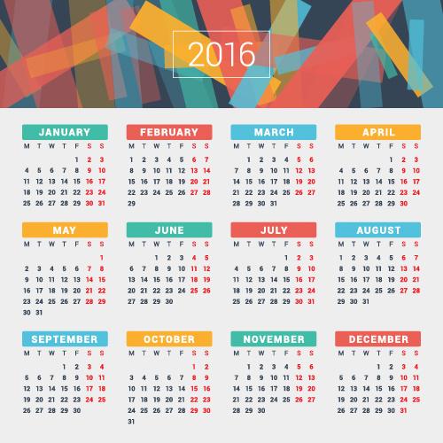 Calendar Design Eps : Company calendar creative design vector free
