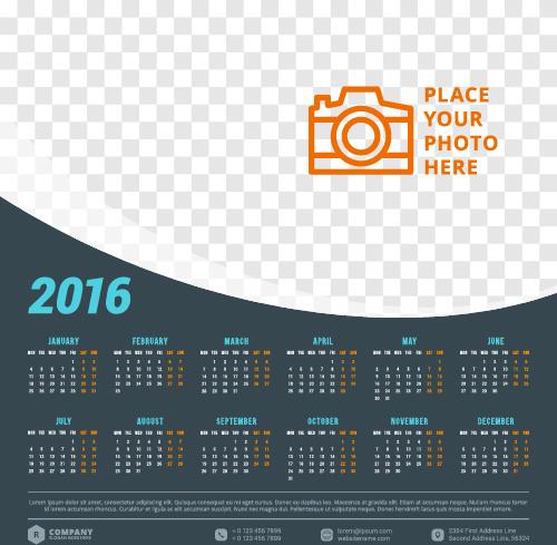 2016 company calendar creative design vector free vector in