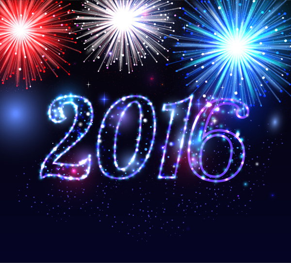 2016 firework and happy new year