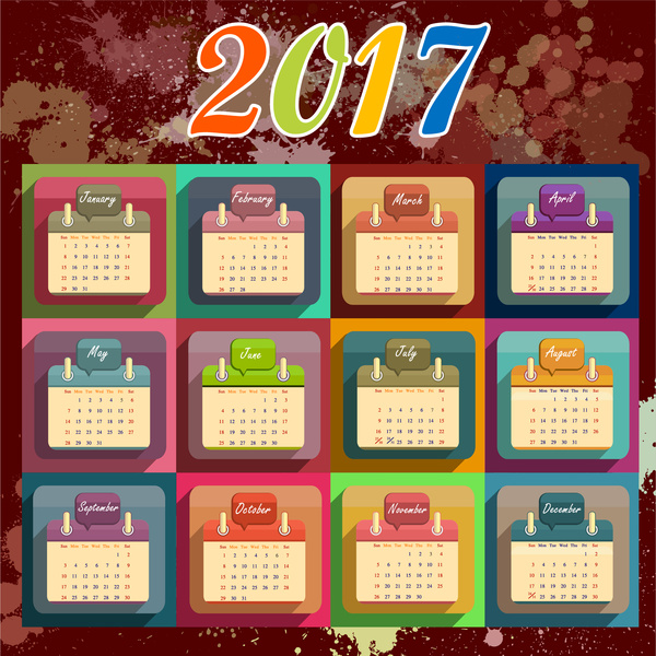 Calendar Design Free Download : Calendar design template free vector download