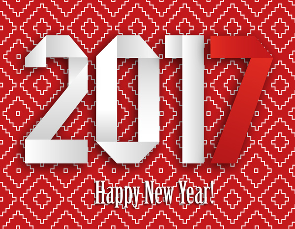 2017 new year banner with red background