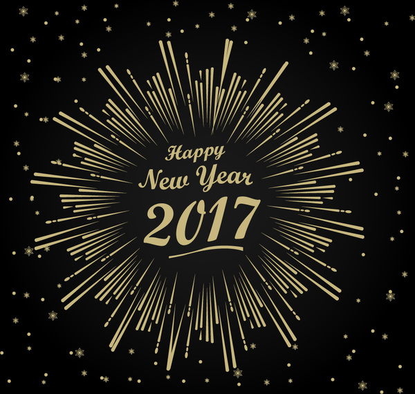 2017 new year template with fireworks design free vector in adobe