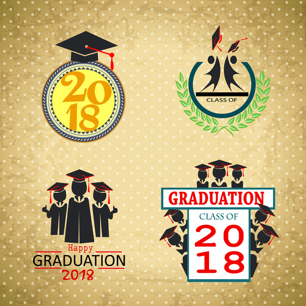 2018 graduation templates design with classical style free vector in 2018 graduation templates design with classical style maxwellsz