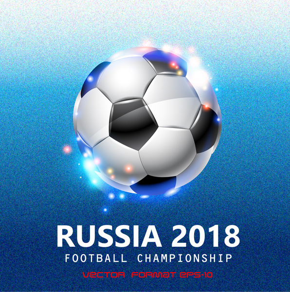2018 world cup poster with ball illustration