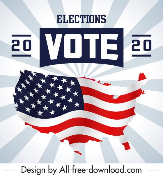 2020 usa election banner flag decor dynamic design