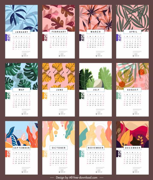 2021 Calendar Editable Free - Free Fully Editable 2021 ...