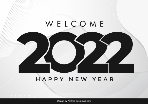 2022 calendar cover template elegant black white design