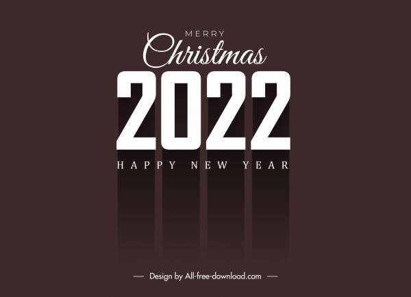 2022 calendar cover template elegant dark shadow decor