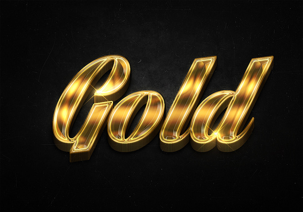 20 3d shiny gold text effects preview